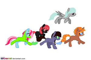 Some adopted ponies c: by Narwhals-are-beast