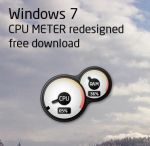 Windows 7 CPU meter gadget by m1r1