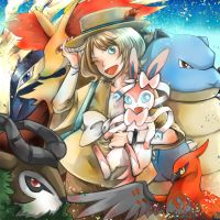 Pokemon XY:: GAME CLEARED!!! by caylren