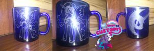 Nightmare Moon glass engrave by angel99percent