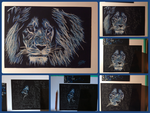 Blue lion by BluLeone