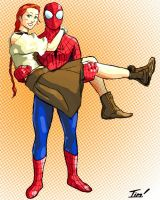 Spider-Man Loves Mary Jane by ninjaink