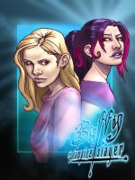 Buffy Summers and Melaka Fray by Petarsaur