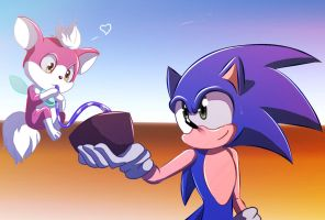 Sonic and Chip by AngelofHapiness