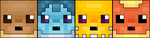 Eevee and eevolutions pixel face icons by SheriBonBon