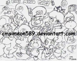 Baby Mario Party by cmsimeon589