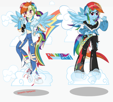 Rainbow Dash Humanized and Anthro by Arteses-Canvas
