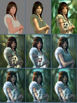 Princess Mononoke Grown-up Process by raikoart