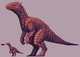Sprite dragon-dino-thing by umbbe