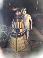 MY DALEK COSTUME (and my dad's cyberman costume) by ravenheart628