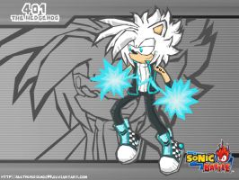 401 The Hedgehog - Sonic Battle Style by AleTheHedgehog99