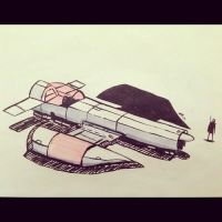 Inktober 26 - Space Ship by Yeti-Labs