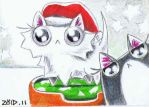 Extra super cute xmas funny cat by KingZoidLord