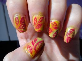 Autumn Nail Art by EnelyaSaralonde