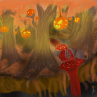 Helloween forest by death6loves6me6