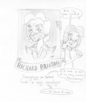 Richard Branson founder of the spaceport by ExcentricSketches4U