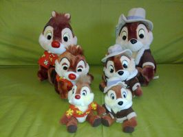 Chip and Dale disney plush by Frieda15