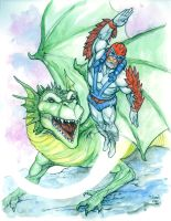 Stratos and Dragon by cheoillustration