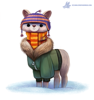 Daily Paint #1110. Alparka by Cryptid-Creations