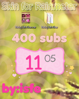 Skin For Rainmeter IsfeClock  400 subs by Isfe