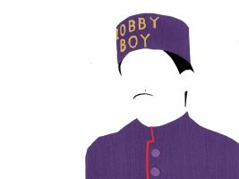 The Grand Budapest Hotel Minimalism-Zero Moustafa by bel17b