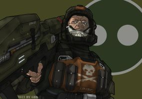 Dutch from Halo: ODST by GRANDBigBird
