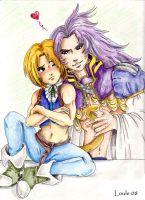 Zidane and Kuja Love by Louleialalouwe