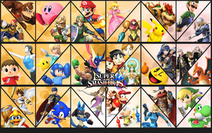 Smash Bros updated background by Badonk