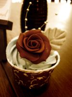 Chocolate Rose Cupcake by Sliceofcake