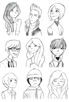 Head Sketches by Mimint
