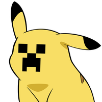 Pikachu Meets Minecraft by drpoochew