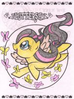 Fluttershy colored by StraxAerioEragous1
