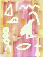 Abstract Hieroglyphics by LinaElShamy
