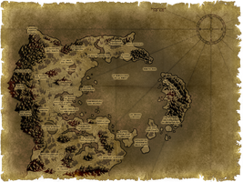 Arajiel Map - Huurskan Kingdom by TSG-Arakara