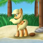 Applejack on the island by Frozl