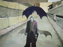 batman joker by chrisdealpainter