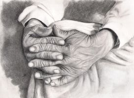 Old man hands by arvillena2