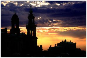 Dresden Sunset by McSes