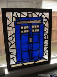 Snowy glass TARDIS by stgulik