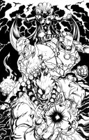 Marvel vs Capcom Poster 1 Inks by AenTheArtist