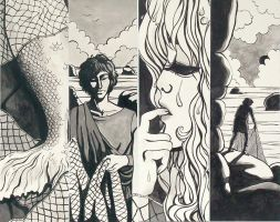Mermaid Quadriptych by pageboy
