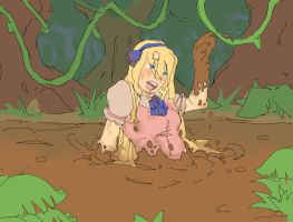 REQUEST: Maria Stuck in Mud by Lazei