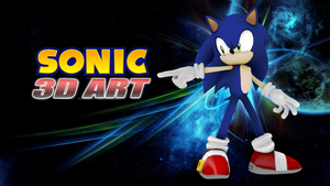 Sonic 3D Art by Mike9711