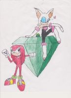 Knuxouge or Knouge drawing by Link-Hero-of-Winds
