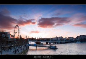 London Sunset by Hacky-Sack