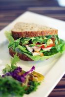 Chicken with Avocado Sandwich by kolOut