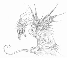 Dragon by littlecrow