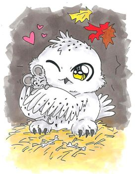 Hedwig Owl by pinguino777
