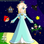 Rosalina enjoyment and joy - colored by ZatchHunter