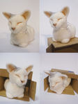 Needle Felted Cat by Fumono